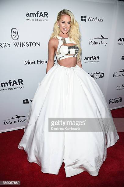 Model Gigi Gorgeous attends the 7th Annual amfAR Inspiration Gala at Skylight at Moynihan Station on June 9 2016 in New York City