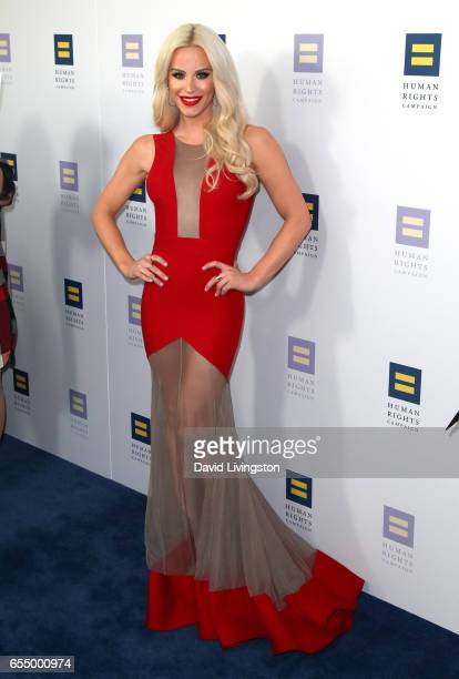 Model Gigi Gorgeous attends the Human Rights Campaign's 2017 Los Angeles Gala Dinner at JW Marriott Los Angeles at LA LIVE on March 18 2017 in Los...
