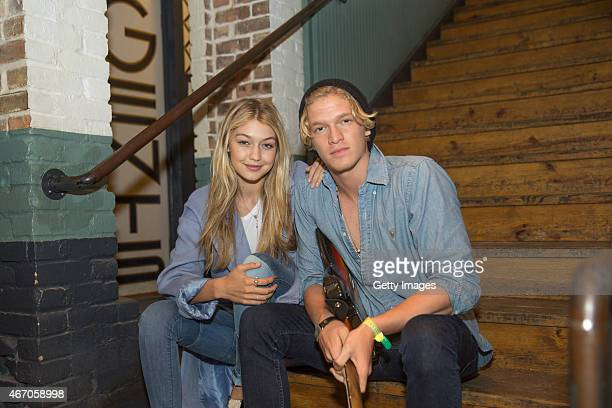 Model Gigi Hadid and musician Cody Simpson celebrate International Day of Happiness at the United Nations and MixRadio global launch at SXSW at Easy...