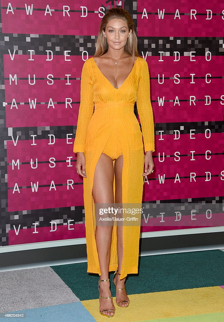 Model Gigi Hadid arrives at the 2015 MTV Video Music Awards at Microsoft Theater on August 30 2015 in Los Angeles California