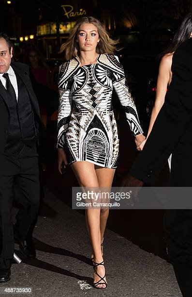 Model Gigi Hadid attends 2015 Harper's BAZAAR ICONS Event at The Plaza Hotel on September 16 2015 in New York City