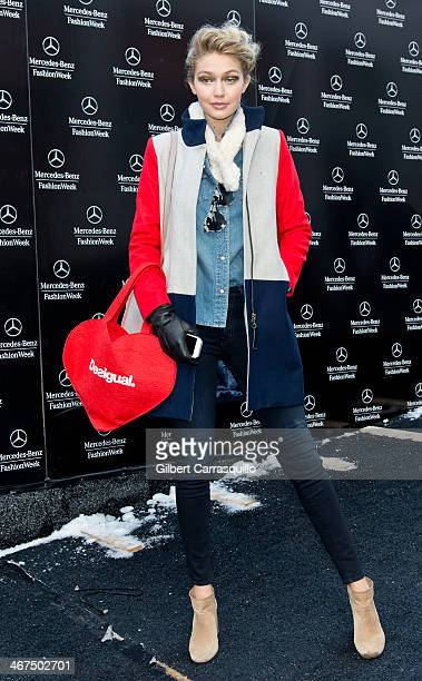 Model Gigi Hadid attends Fall 2014 Mercedes Benz Fashion Week on February 6 2014 in New York City