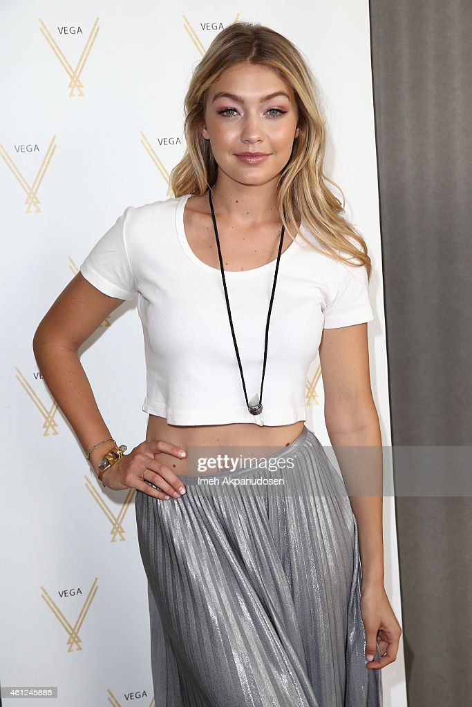 Model Gigi Hadid attends Kari Feinstein's Pre-Golden Globes Style Lounge at the Andaz West Hollywood on January 9, 2015 in West Hollywood, California.