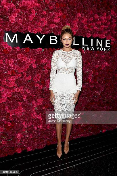 Model Gigi Hadid attends Maybelline New York Celebrates New York Fashion Week at Sixty Five on September 13 2015 in New York City