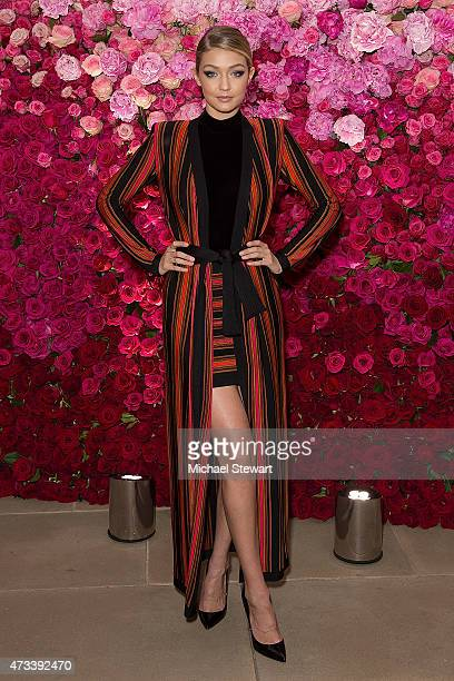 Model Gigi Hadid attends Maybelline New York's 100 Year Anniversary at IAC Building on May 14 2015 in New York City