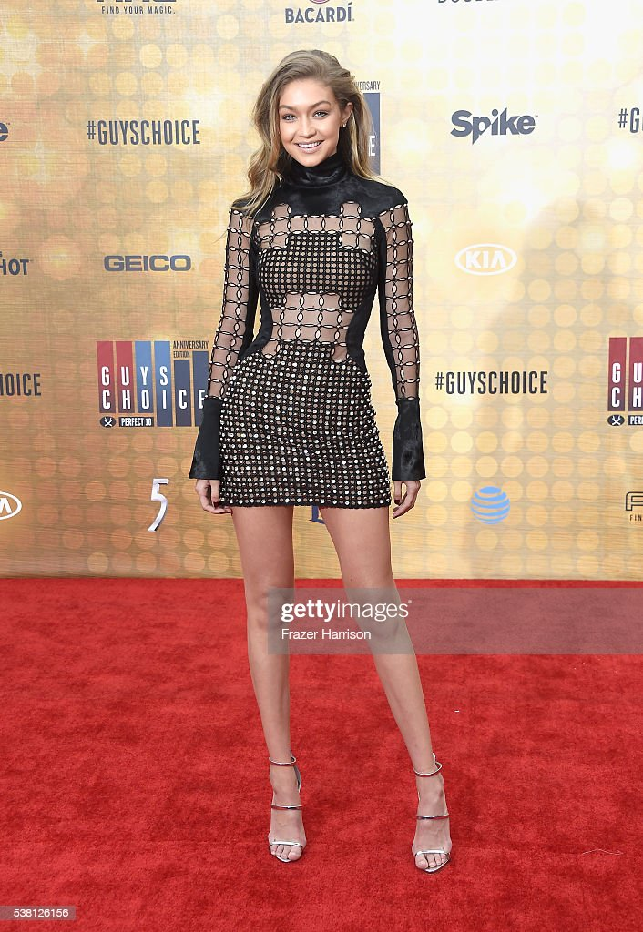 Model Gigi Hadid attends Spike TV's 10th Annual Guys Choice Awards at Sony Pictures Studios on June 4 2016 in Culver City California