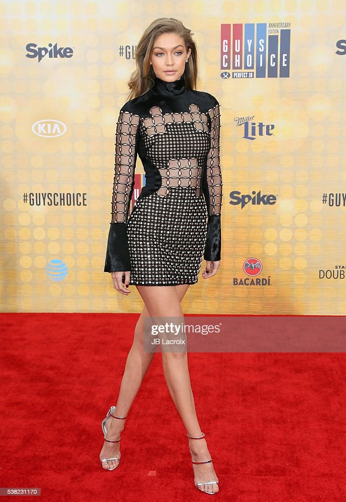 Model Gigi Hadid attends Spike TV's 'Guys Choice 2016' at Sony Pictures Studios on June 4 2016 in Culver City California