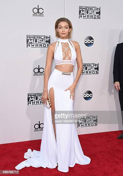 Model Gigi Hadid attends the 2015 American Music Awards at Microsoft Theater on November 22 2015 in Los Angeles California