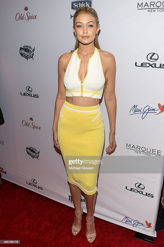 Model Gigi Hadid attends the 2015 Sports Illustrated Swimsuit Issue celebration at Marquee on February 10 2015 in New York City