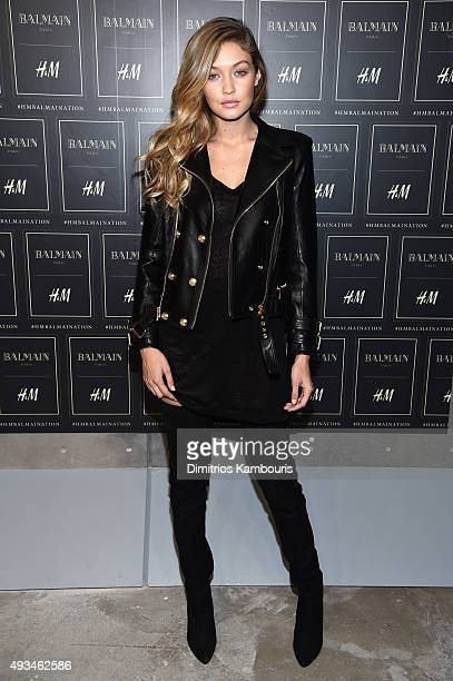 Model Gigi Hadid attends the BALMAIN X HM Collection Launch at 23 Wall Street on October 20 2015 in New York City