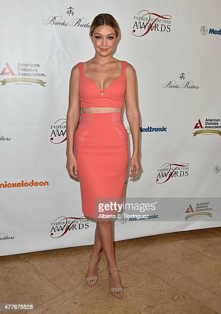 Model Gigi Hadid attends the Greater Los Angeles Chapter Of The American Diabetes Association's Father of the Year Awards at The Beverly Hilton Hotel...