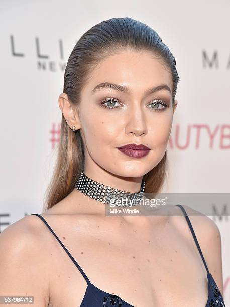 Model Gigi Hadid attends the Maybelline New York celebration of their latest collection with an LA beauty bash hosted By Gigi Hadid with celebrity...