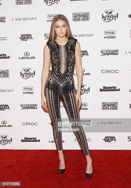 Model Gigi Hadid attends the Sports Illustrated Celebrates Swimsuit 2016 at Brookfield Place on February 16 2016 in New York City