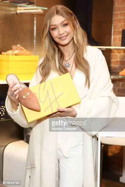Model Gigi Hadid attends the Stuart Weitzman PopUp Event on November 15 2017 in New York City