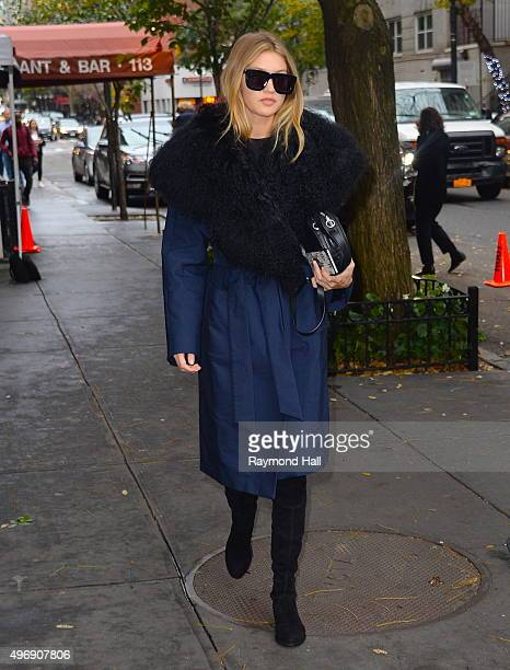 Model Gigi Hadid is seen at a W Magazine photo shoot in Soho on November 12 2015 in New York City