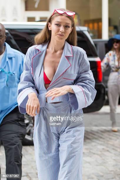 Model Gigi Hadid is seen in NoHo on June 23 2017 in New York City