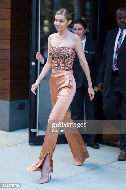 Model Gigi Hadid is seen in NoHo on June 26 2017 in New York City