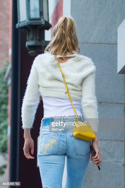 Model Gigi Hadid is seen in the Upper East Side on September 5 2017 in New York City