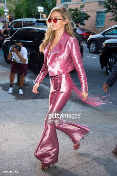 Model Gigi Hadid is seen in the West Village on June 27 2017 in New York City