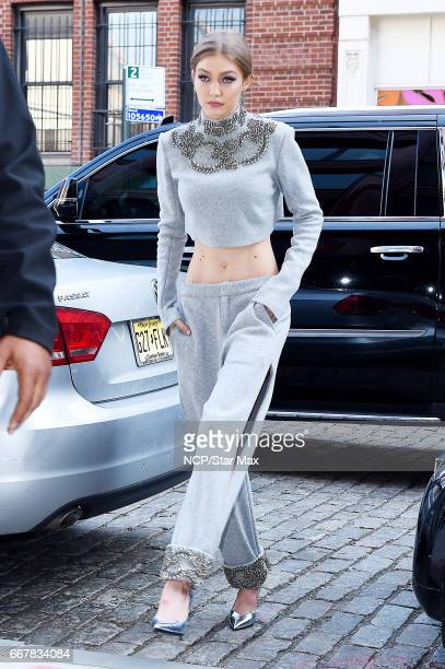 Model Gigi Hadid is seen on April 12 2017 in New York City