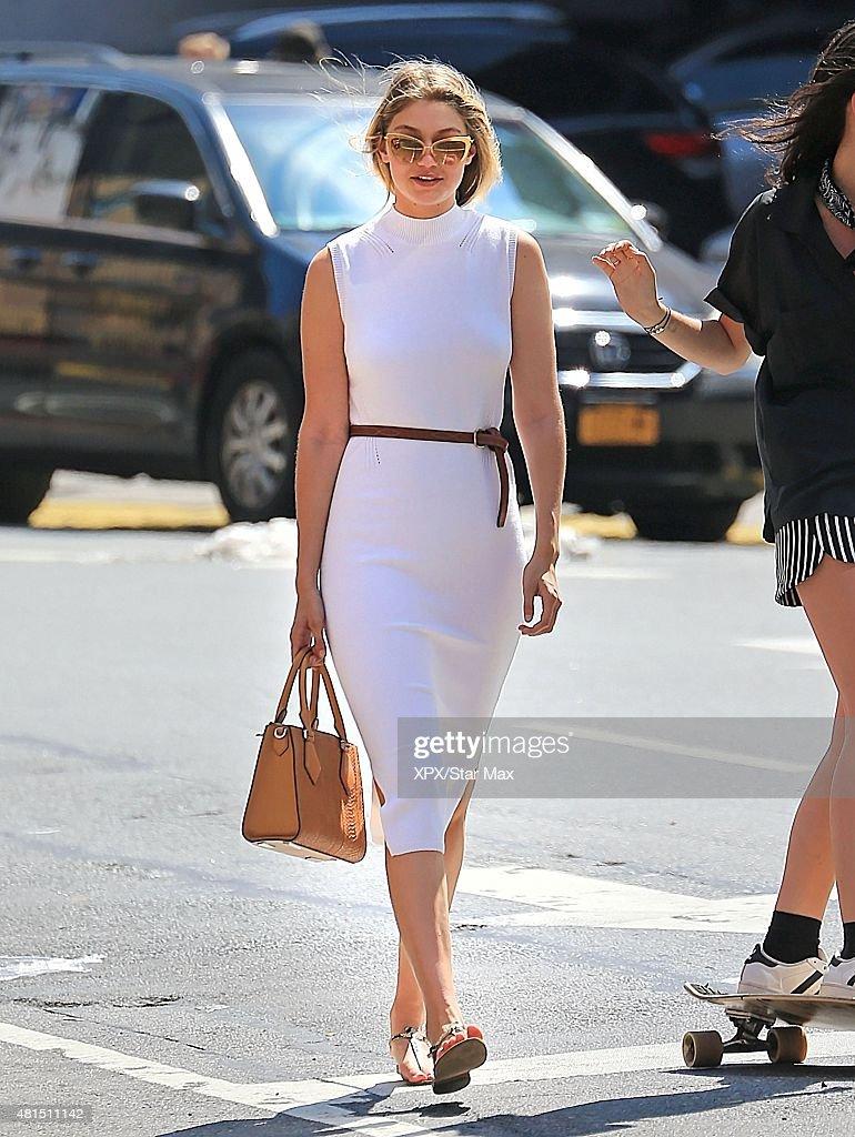 Model Gigi Hadid is seen on July 13 2015 in New York City