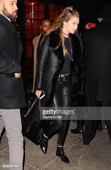 Model Gigi Hadid is seen walking in Soho on January 5 2016 in New York City