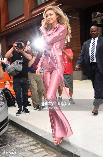 Model Gigi Hadid is seen walking in Soho on June 27 2017 in New York City