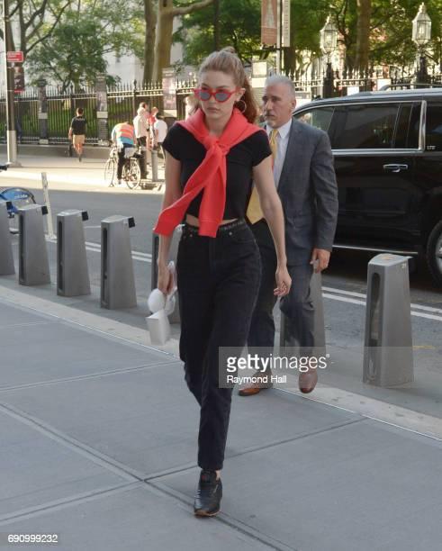Model Gigi Hadid is seen walking in Soho on May 31 2017 in New York City