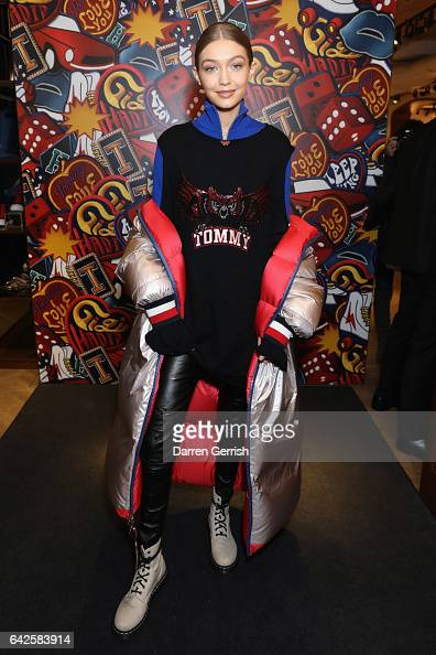 Model Gigi Hadid launches her spring 2017 TommyXGigi capsule collection designed with Tommy Hilfiger at the Tommy Hilfiger Flagship Store during the...