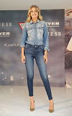 Model Gigi Hadid poses at Myer Macquarie Centre on August 4 2015 in Sydney Australia