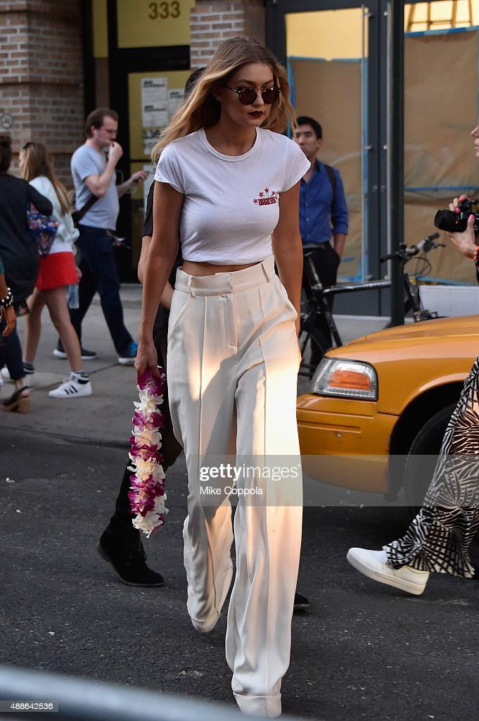 Model Gigi Hadid seen around Spring 2016 New York Fashion Week The Shows Day 7 on September 16 2015 in New York City