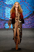 Model Gigi Hadid walks the runway at the Anna Sui fashion show during MercedesBenz Fashion Week Fall at The Theatre at Lincoln Center on February 18...