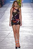 Model Gigi Hadid walks the runway during the Versace fashion show as part of Milan Fashion Week Spring/Summer 2016 on September 25 2015 in Milan Italy