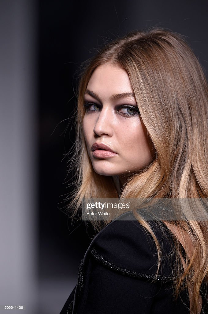 Model Gigi Hadid walks the runway during the Versace Spring Summer 2016 show as part of Paris Fashion Week on January 24, 2016 in Paris, France.