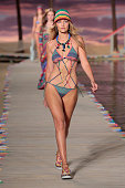 Model Gigi Hadid walks the runway wearing Tommy Hilfiger Women's Spring 2016 during New York Fashion Week The Shows at Pier 36 on September 14 2015...