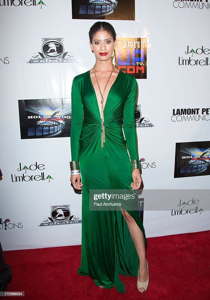 Model Gina Falcone attends the 'Party After' the 2013 BET Awards hosted by Chris Brown and Nick Cannon at The Belasco Theater on June 30, 2013 in Los Angeles, California.