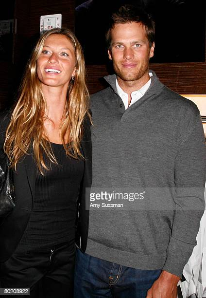 Model Gisele Bundchen and New England Patriots quarterback Tom Brady attend the opening of Ermenegildo Zegna Global Store on 5th Avenue on March 11...