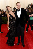 Model Gisele Bundchen and NFL player Tom Brady attend the 'Charles James Beyond Fashion' Costume Institute Gala at the Metropolitan Museum of Art on...