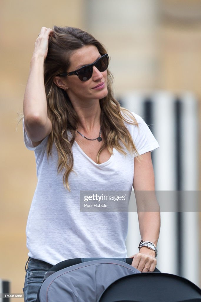 Model <a gi-track='captionPersonalityLinkClicked' href=/galleries/search?phrase=Gisele+Bundchen&family=editorial&specificpeople=201815 ng-click='$event.stopPropagation()'>Gisele Bundchen</a> is sighted at the Palais Royal on June 20, 2013 in Paris, France.