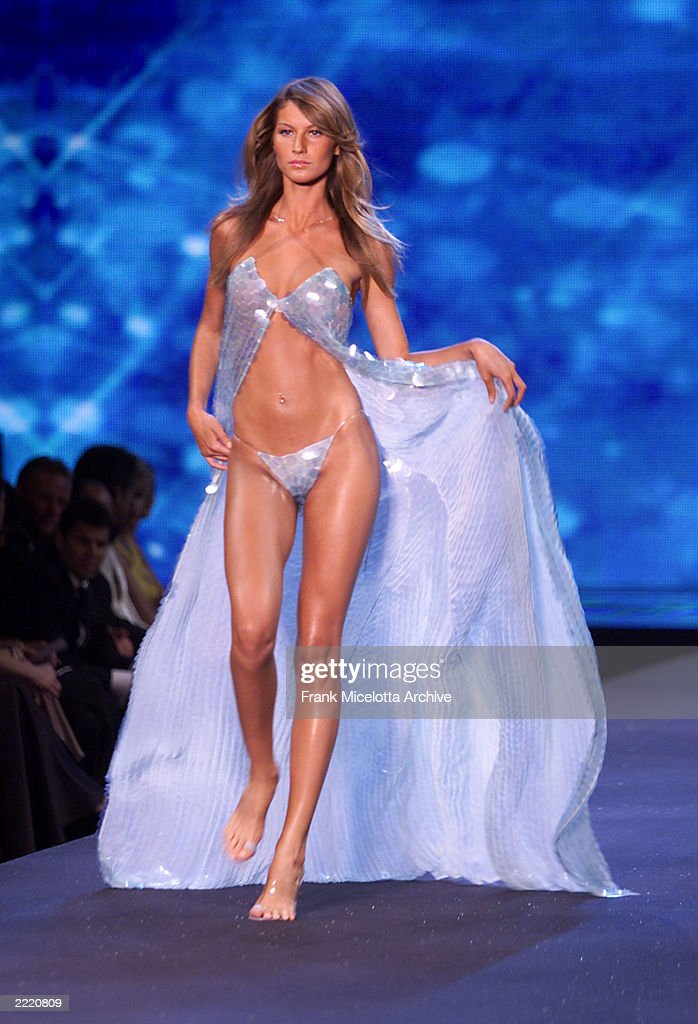 Model Gisele Bundchen on the runway at the Victoria's Secret fashion show benefit for amfAR Cinema Against Aids 2000 at the Cannes Film Festival...