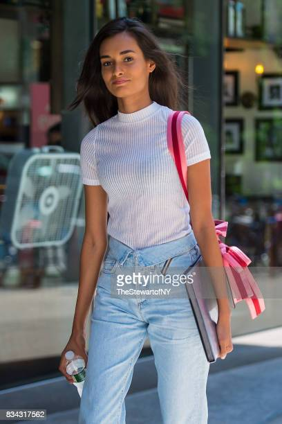 Model Gizele Oliveira attends casting for the 2017 Victoria's Secret Fashion Show in Midtown on August 17 2017 in New York City