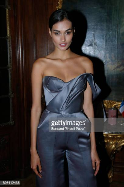 Model Gizele Oliveira attends the JeanPaul Gaultier 'Scandal' Fragrance Launch at Hotel de Behague on June 15 2017 in Paris France