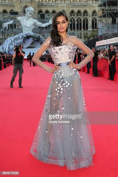 Model Gizele Oliveira during the Life Ball 2017 at City Hall on June 10 2017 in Vienna Austria