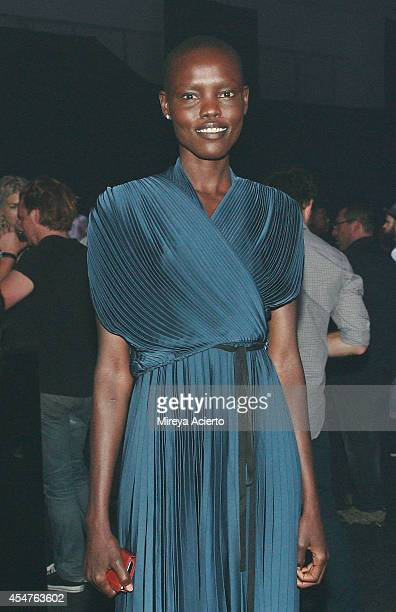 Model Grace Bol attends Lexus Design Disrupted Gareth Pugh during MADE Fashion Spring 2015 at Pier 36 on September 4 2014 in New York City
