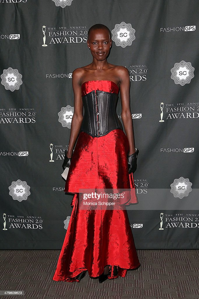 Model Grace Bol attends the FASHION 2.0 Awards at Merkin Concert Hall on March 20, 2014 in New York City.