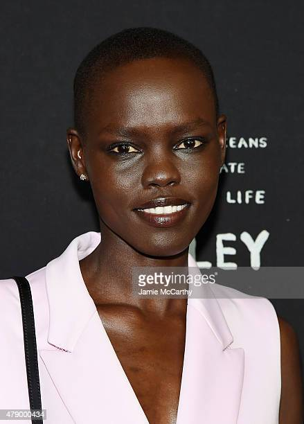 Model Grace Bol attends the United Nations x Parley For The Oceans Launch Event at the United Nations General Assembly Hall on June 29 2015 in New...