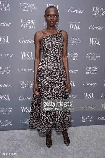 Model Grace Bol attends the WSJ Magazine 2017 Innovator Awards at MOMA on November 1 2017 in New York City