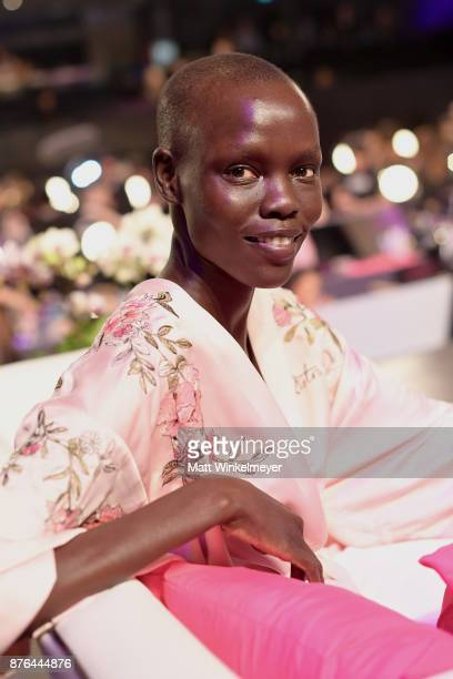 Model Grace Bol poses in Hair Makeup during 2017 Victoria's Secret Fashion Show In Shanghai at MercedesBenz Arena on November 20 2017 in Shanghai...