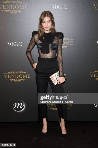Model Grace Elizabeth attends Vogue Party as part of the Paris Fashion Week Womenswear Spring/Summer 2018 at on October 1 2017 in Paris France