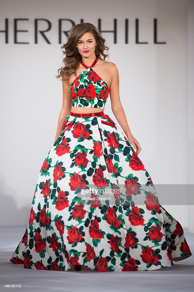Model Grace Elizabeth walks the runway at the Sherri Hill fashion show during Spring 2016 New York Fashion Week: The Shows at The Plaza on September 13, 2015 in New York City.